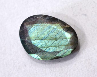 Labradorite Natural Labradorite Rose Cut Polki Both Side Faceted 4.65 cts 11.5x15 mm For Designer Jewelry 3950