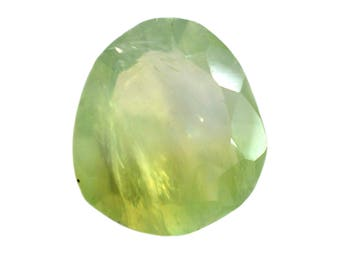 Prehnite Natural Green Prehnite Both side Faceted Polki 6.75 cts. 13.5x15 mm 1 piece Loose Gemstone 4086