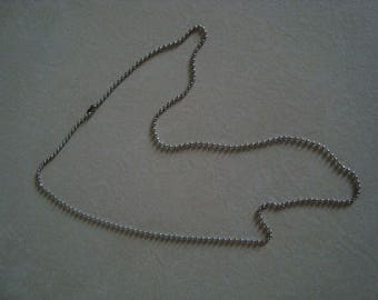 Silver coloured ball chain necklace