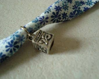 Liberty blue charm bracelet with cube