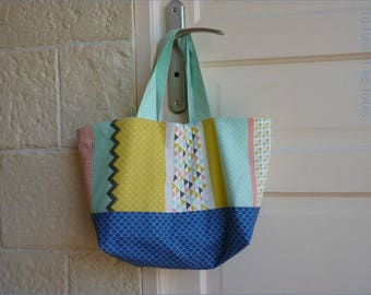 Cotton bag with handles, typical tote bag / zero waste