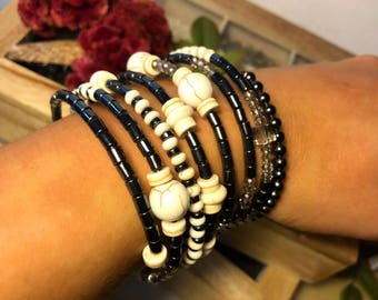 Jewelry Set Wish Bracelet Gemstone Bracelet White Howlite gemstone bracelet Stone bracelet Women bracelet Women Gift Christmas Daughter