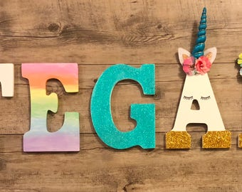 Personalized unicorn letters