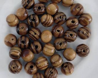 50 designs different prbm009 8 mm round wooden beads