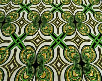 FABRIC African WAX fabric retro vintage pattern