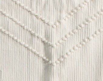 Rug 100% recycled cotton and white fringes
