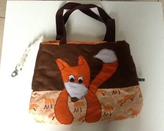 Fox brown suede handbag