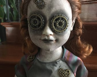 "Sabrina 26"" Scary Creepy Steampunk OOAK Horror doll"
