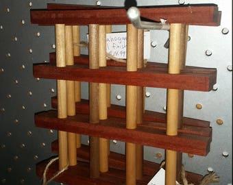 mahogany wood trivet (pot holder) 8 inch