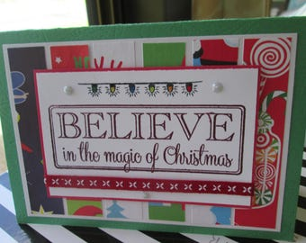 Homemade Christmas Card, Believe in the Magic of Christmas