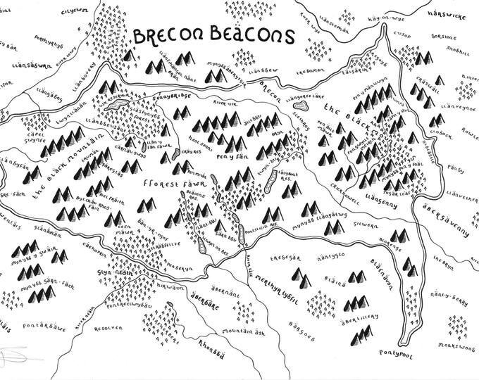 Brecon Beacons National Park - Giclée Print