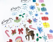 Christmas Trio Stickerset-limited edition-watercolor sticker-pretty planning-scrapbooking-bullet journaling