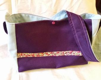 Double door Crossbody shoulder bag