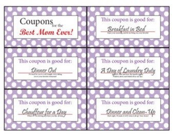 Coupon Book for Mom | Printable | Digital | Stocking Stuffer | Mother's Day | Mom | Birthday