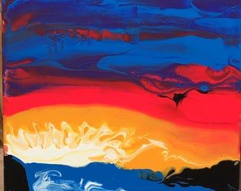 Fluid Art Acrylic Painting