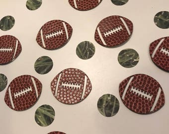 Football confetti and grass confetti table or card confetti - 150 pieces. Great for superbowl party or birthdays