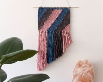 Ethnic Tapestry/handmade tapestry/wall decor/Bohemian tapestry/Contemporary tapestry/modern tapestry/weaving wall hanging/striped tapestry