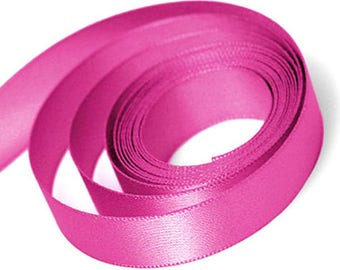 Pink Satin Ribbon available in 3 ribbon widths 9mm, 15mm, 23mm