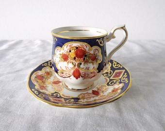 Vintage Porcelain Royal Albert 'Heirloom' Teacup and Saucer