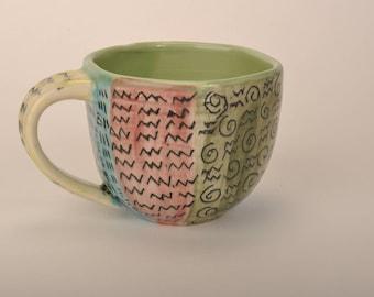 90s pattern mug