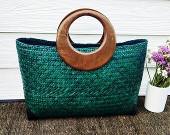 Handmade Shopping Style Handbag. 100% natural Materials