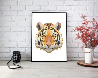 Tiger Triangle Wall Print