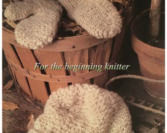 PDF Knit Garter Cap and Mittens