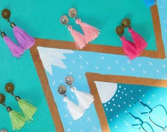 Earrings tassels and Star