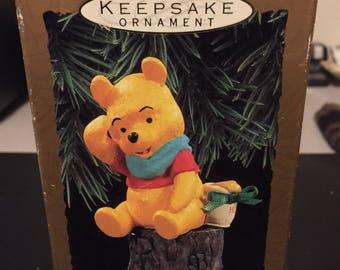 Hallmark Keepsake Ornament Winnie the Pooh Hear Pooh's Voice Magic 1993 Free Shipping