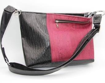 Purse - Handbag, Cork, Wine Red, Faux Leather