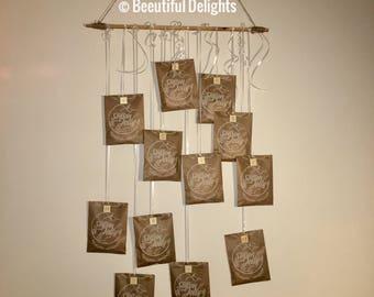 24 Nights Hanging Advent Calendar - Tea & Biscuits