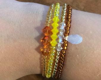 Elastic crystal swarovski bead bracelet