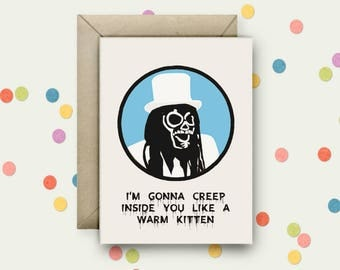 Mighty Boosh Pop Art and Quote A6 Blank Greeting Card with Envelope