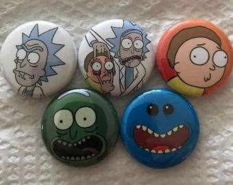 Rick and Morty inspired 5 pin set