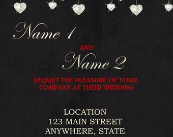Wedding Invitation Chalkboard