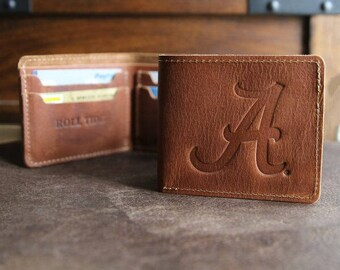 The Officially Licensed Alabama Big Dixie Fine Leather BiFold Wallet