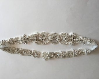 Bridal belt, bridal sash, wedding belt, rhinestone belt