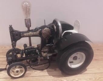 Jones Sewing Machine Vintage Tractor Lamp