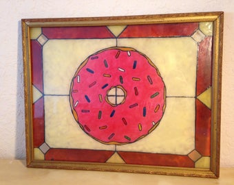 Pink Doughnut Stained Glass