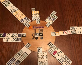 Personalized Mexican Train Dominoes Center