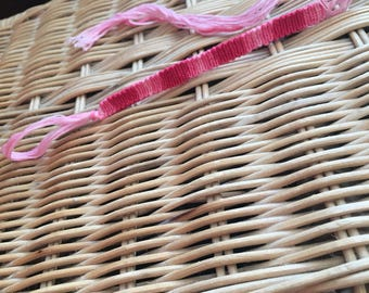 Pink ombré macramé bracelet