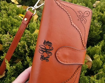 leather womens wallet,Womens wallet leather,Monogram clutch,leather clutch,gift for women,personalized womens,monogrammed wallet for women