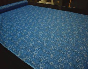 "Pacific Blue Bandana Print Quilting Fabric Craft Apparel Upholstery 45""W #9956B"