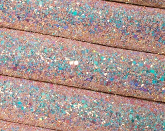 By The Sea Premium Quality Chunky Glitter Fabric Sheet