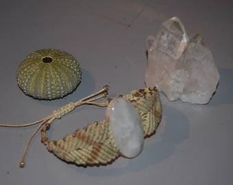 macrame stone bracelet