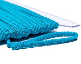 Mini braid tassels - turquoise blue