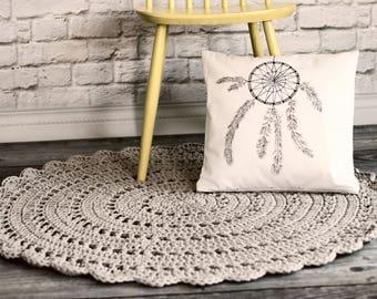 Dreamcatcher Handpainted Cushion, Scandi Pillow, Cotton Handmadecushion, Handpainted Cushion, Cushion Cover, Decorative Cushion, Bohemian