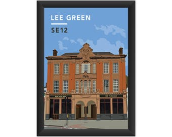 Lee Green/Old Tigers Head SE12 - Giclée Art Print - South London Poster