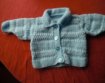 baby coat jacket top cardi  0-3 months blue