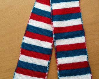 Red, Navy and Cream Kids' Scarf
